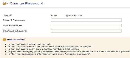 select Reset password roadrunner