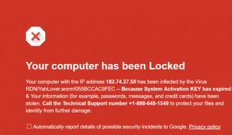 virus in browser